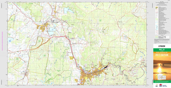 Lithgow 8931-3S Topographic Map 1:25k