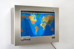Original Kilburg Geochron Geopolitical - Brushed Stainless Steel