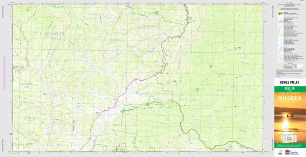 Howes Valley 9032-2N Topographic Map 1:25k