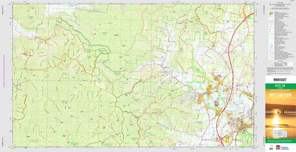 Morisset 9131-1N Topographic Map 1:25k