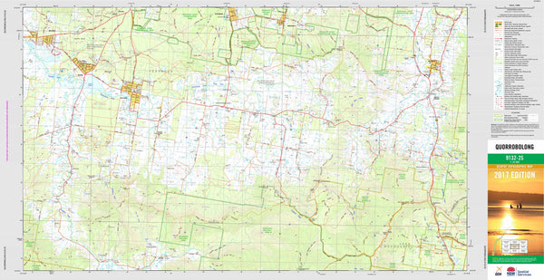 Quarrobolong 9132-2S Topographic Map 1:25k