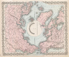 Colton Map of the North Pole or Arctic (1872) Print