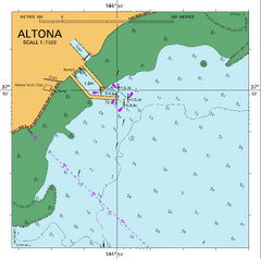 AUS 155 - Approaches to Port of Melbourne Nautical Chart