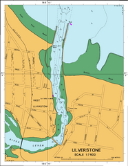 AUS 164 - Approaches to Devonport Nautical Chart