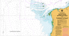 AUS 700 - Western Approaches to Torres Strait Nautical Chart