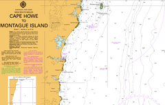 AUS 806 - Cape Howe to Montague Island Nautical Chart