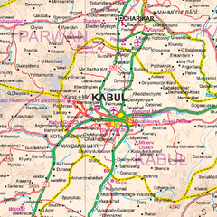 Kabul & Historic Khyber Pass ITMB Map