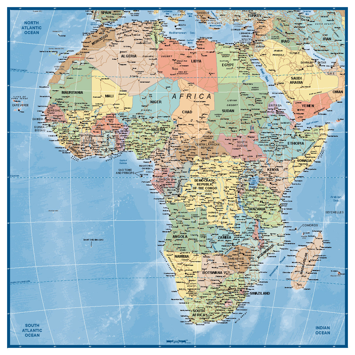 Africa Supermap, Buy Map of Africa - Mapworld