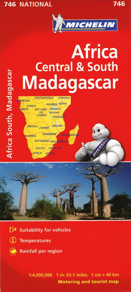 Africa Central & Southern Michelin Map