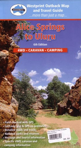 Alice Springs to Uluru Map Westprint
