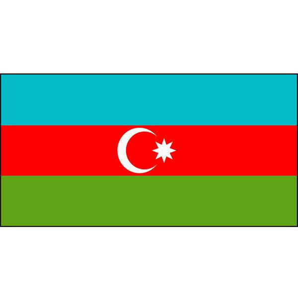 Azerbaijan Flag 1800 x 900mm