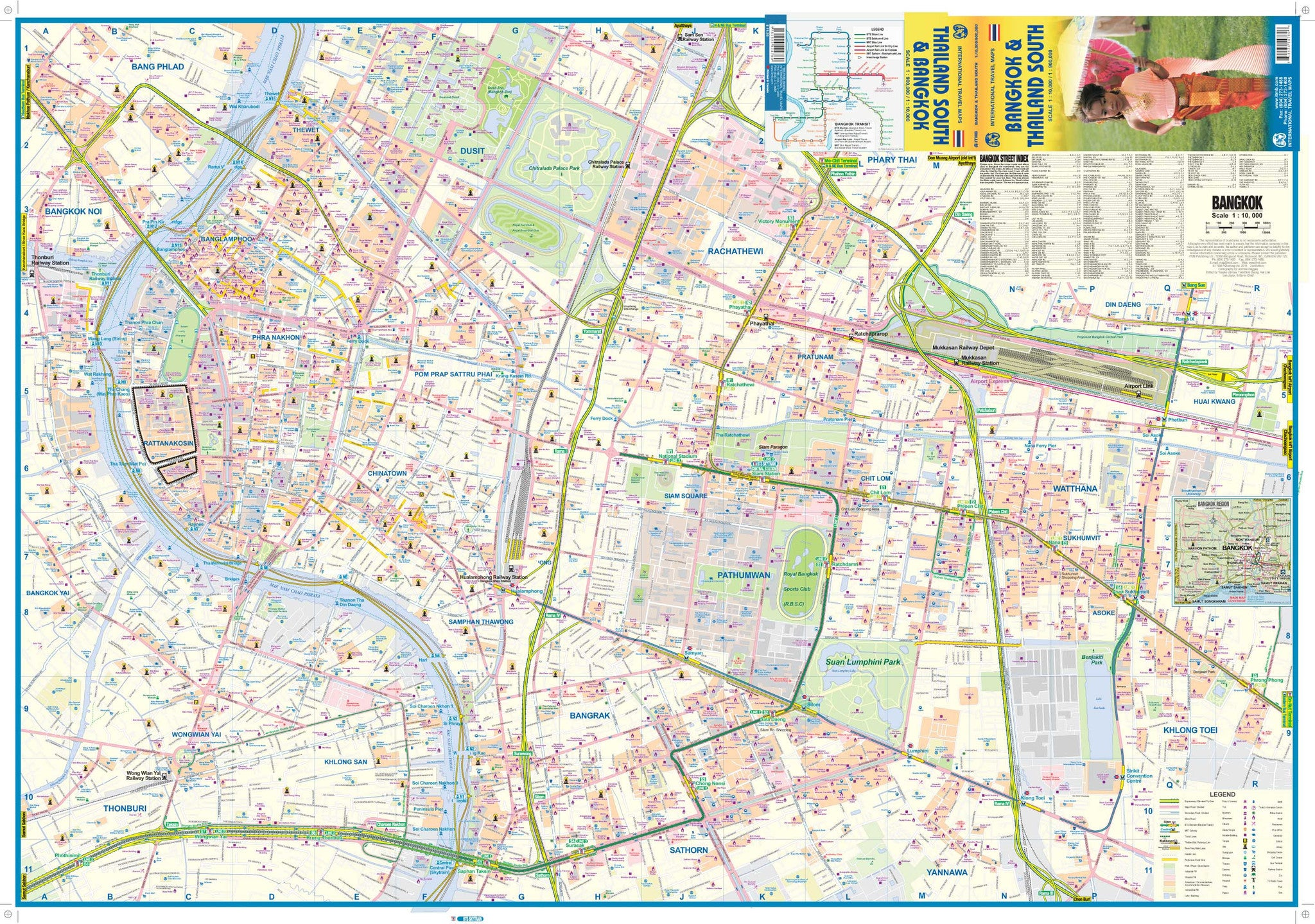 Bangkok ITMB Thailand Map, Buy Map of Bangkok Thailand - Mapworld