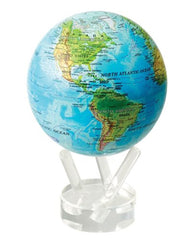 MOVA Globe Blue Ocean Relief Map - 4.5""