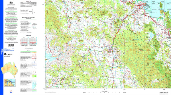 Bowen SF55-03 Topographic Map 1:250k