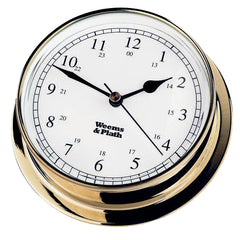 Endurance Brass Clock 125mm by Weems & Plath