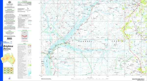 Brighton Downs SF54-15 Topographic Map 1:250k