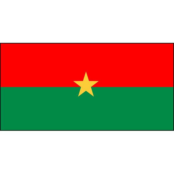 Burkina Faso Flag 1800 x 900mm