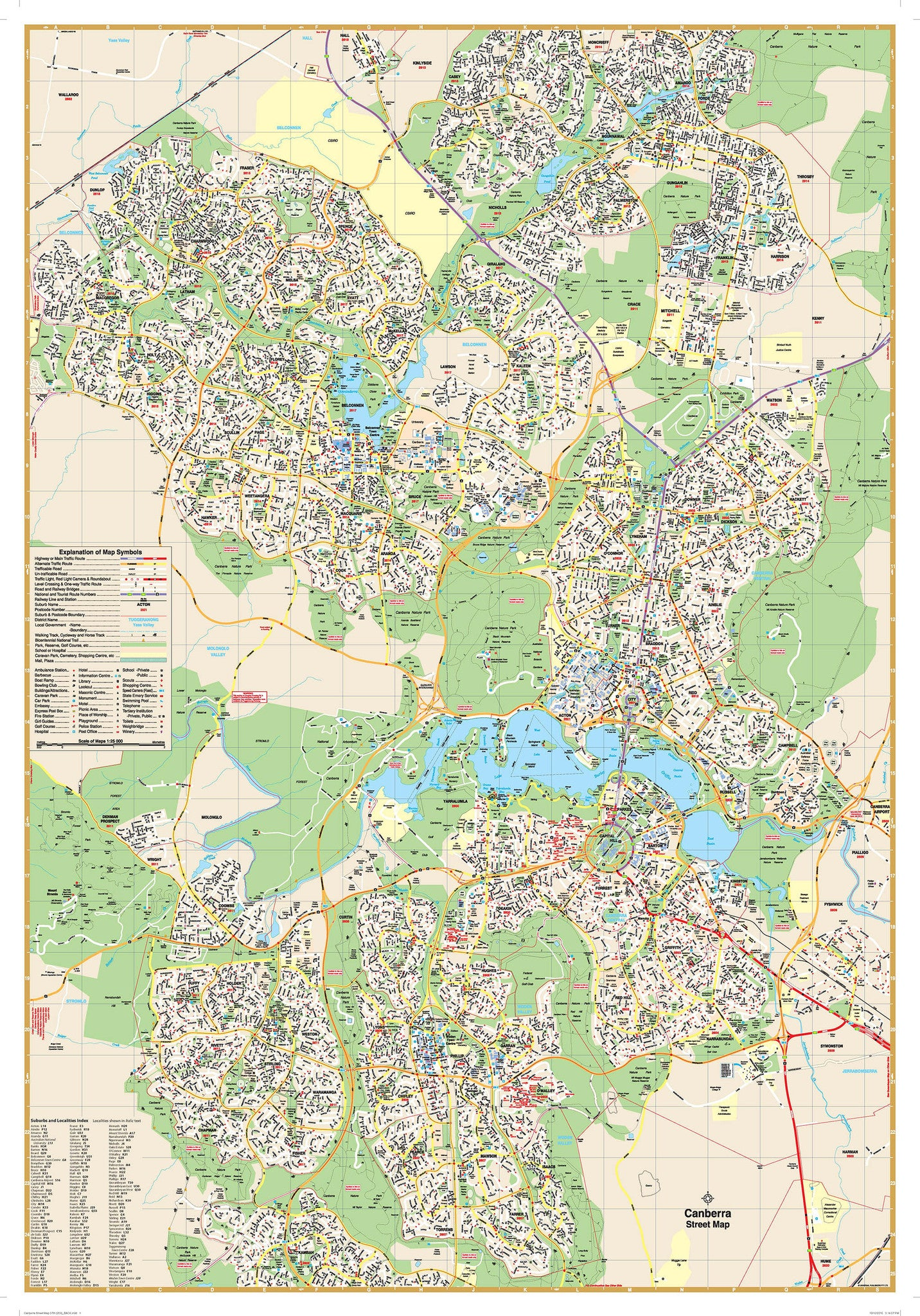 Canberra Ubd Map Buy Map Of Canberra Mapworld