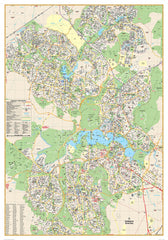 Canberra UBD 259 Map 690 x 1000mm Laminated Wall Map