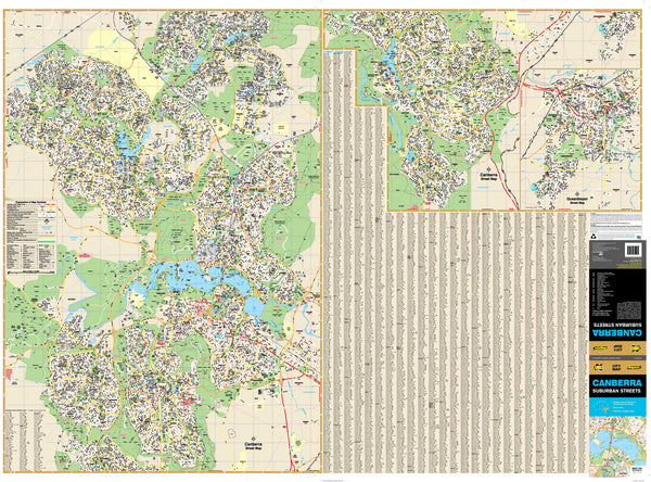 Canberra UBD 259 E/W 2 Sheet Map 1400 x 1010mm Laminated Wall Map