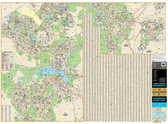 Copy of Canberra UBD 259 E/W 2 Sheet Map 1400 x 1010mm Laminated Wall Map with Hang Rails