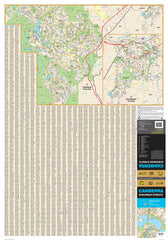 Canberra UBD 259 Map 690 x 1000mm Laminated with Hang Rails