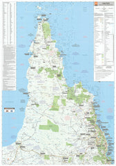 Cape York Hema 700 x 1000mm Laminated Wall Map
