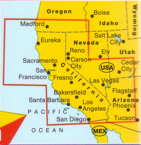Map Of California Usa.California Marco Polo Map