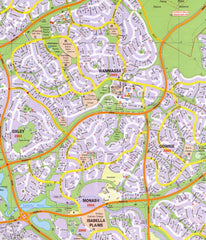 Canberra UBD 259 Map 690 x 1000mm Laminated