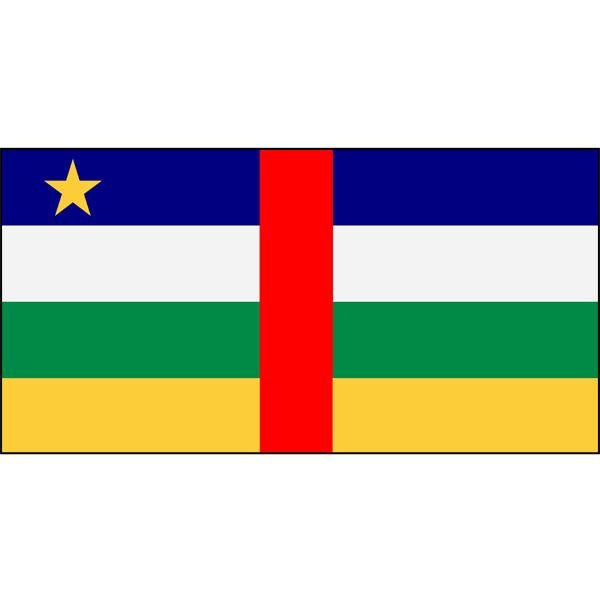 Central African Republic Flag 1800 x 900mm