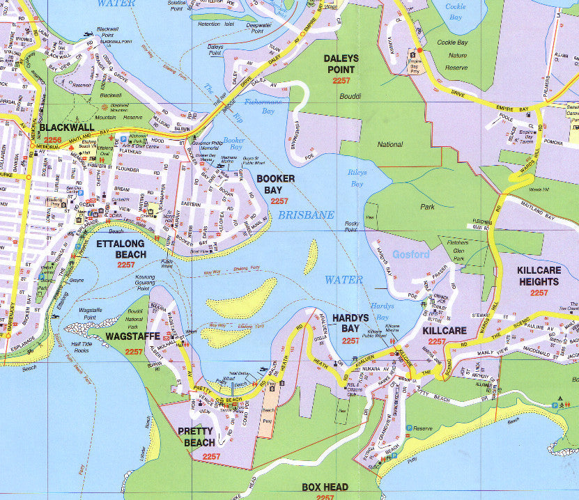 Central Coast Ubd Map 289 Buy Map Of Central Coast Mapworld