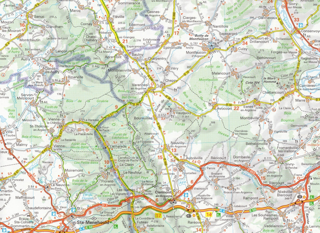 Champagne Ardennes 515 France Michelin Map