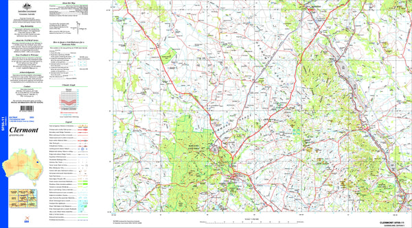 Clermont SF55-11 Topographic Map 1:250k