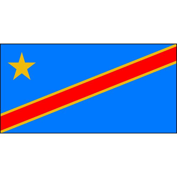 Congo Flag 1800 x 900mm