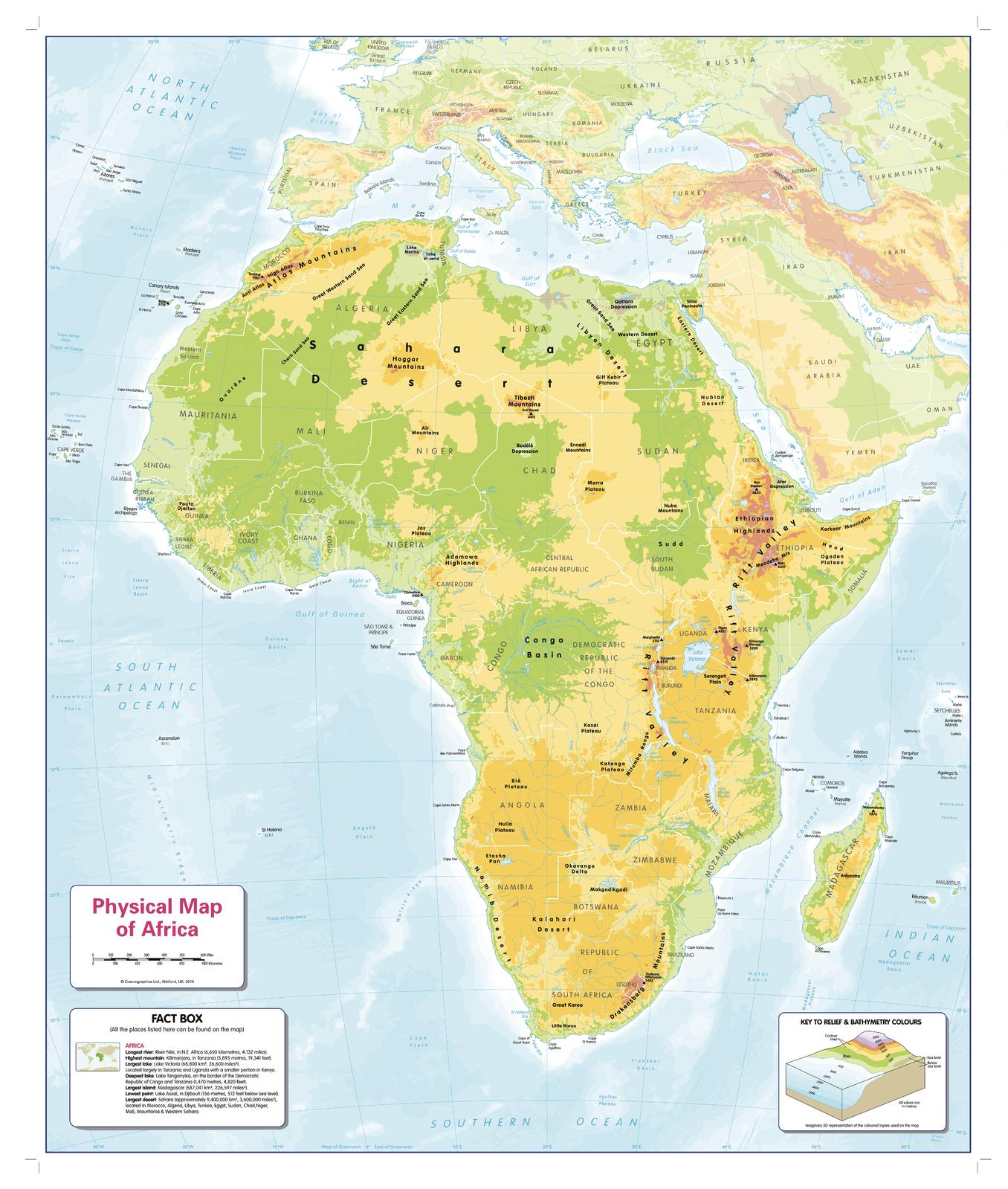 Picture of: Children S Physical Map Of Africa Shop Mapworld
