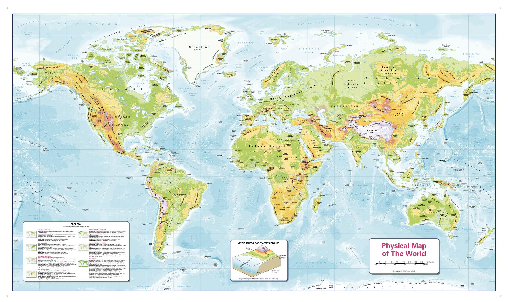 Image of: Children S Physical World Map Buy Physical World Map Shop Mapworld