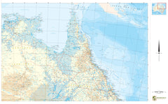 North East  Australia Cyclone Tracking 1150 x 850mm Laminated Wall Map BMA
