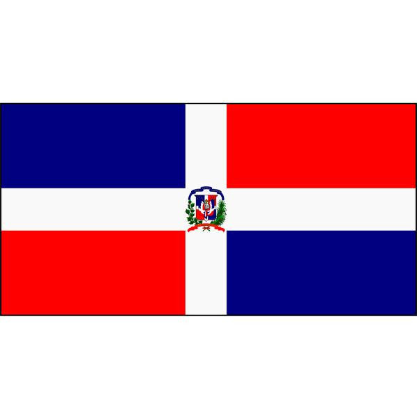 Dominican Republic (with crest) Flag 1800 x 900mm