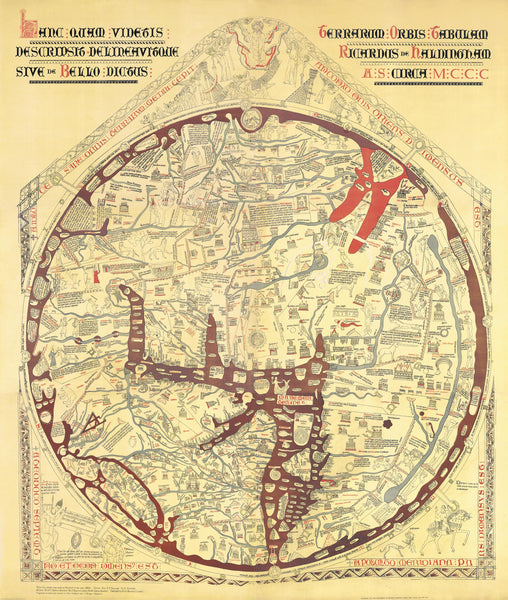Stanford's Facsimile of the Hereford Mappa Mundi published 1869