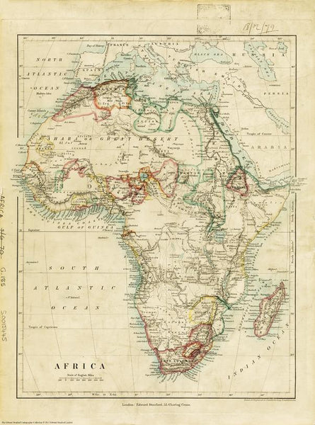 Stanford's Africa Map published 1879