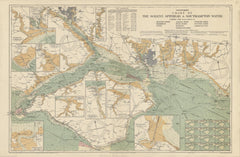 Stanford's Chart of the Solent, Spithead and Southampton Water published 1932