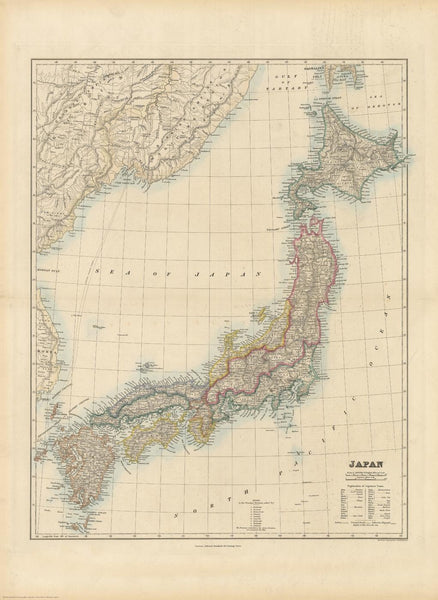 Stanford's Folio Japan Map published 1884