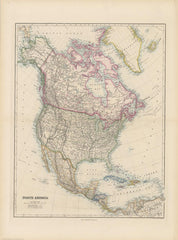 Stanford's Folio North America Map published 1884
