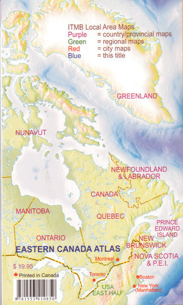Map Of Eastern Canada And Usa.Eastern Canada Travel Atlas Itmb
