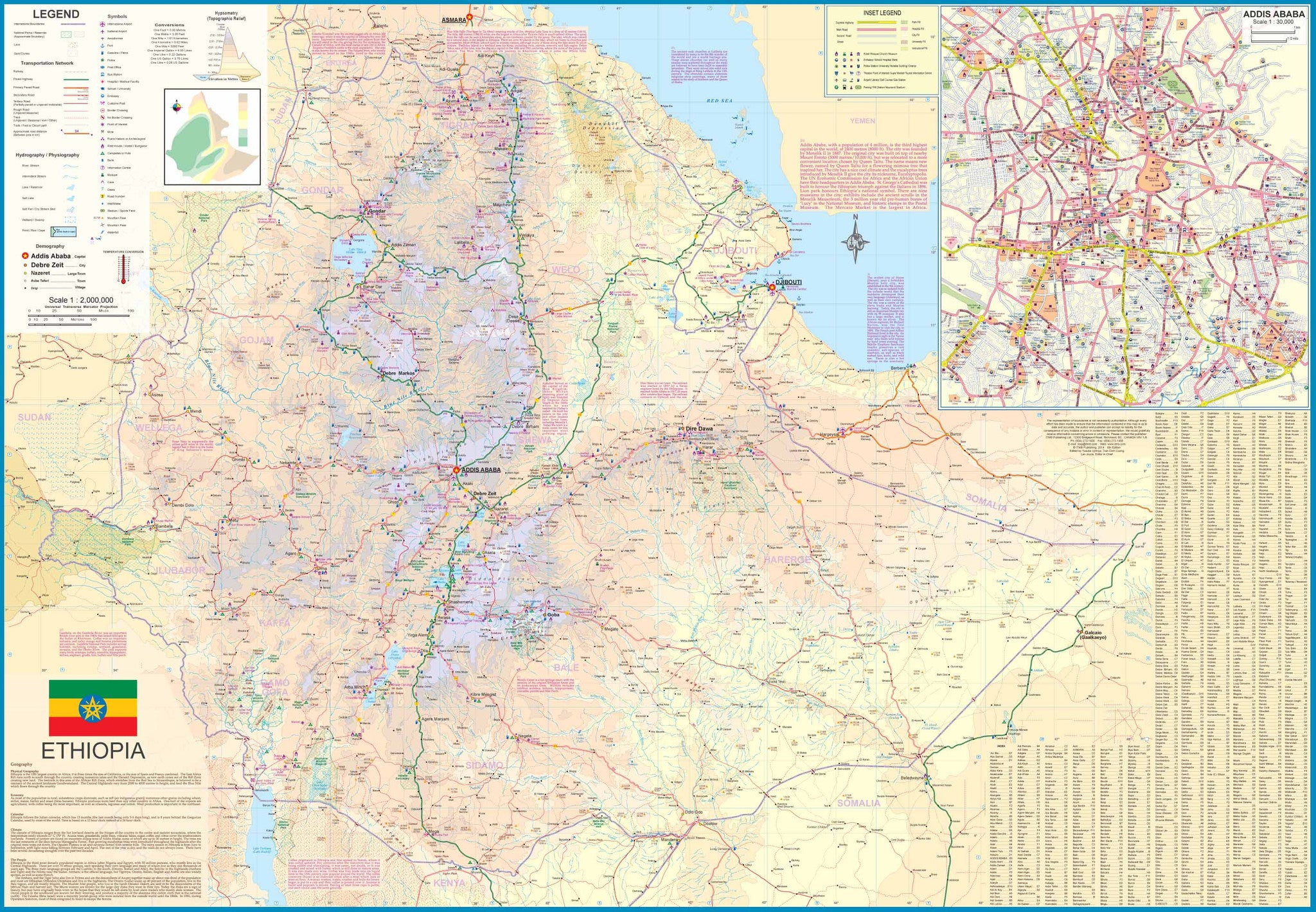 Ethiopia ITMB, Buy Map of Ethiopia - Mapworld