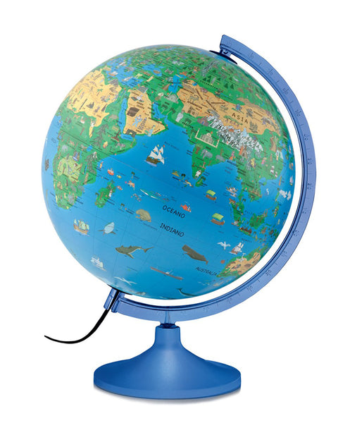 Family S Solid Atmosphere Illuminated 30cm Globe