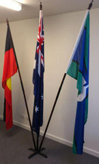 Australian/Aboriginal/TSI Flag Set (1800 x 900mm sleeve) with Metal Base