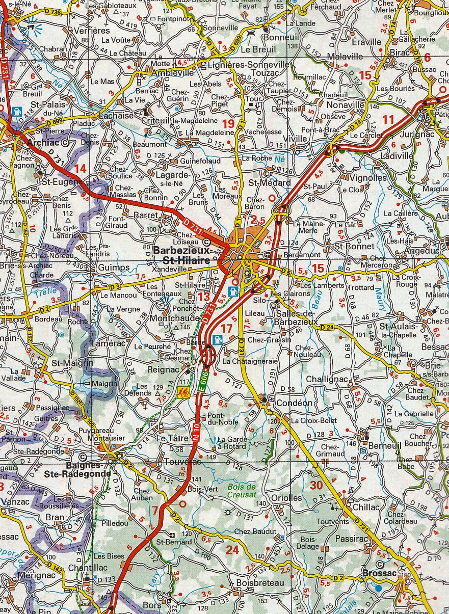 Detailed Route 66 Map >> France Road Atlas Michelin, Buy Road Atlas of France - Mapworld