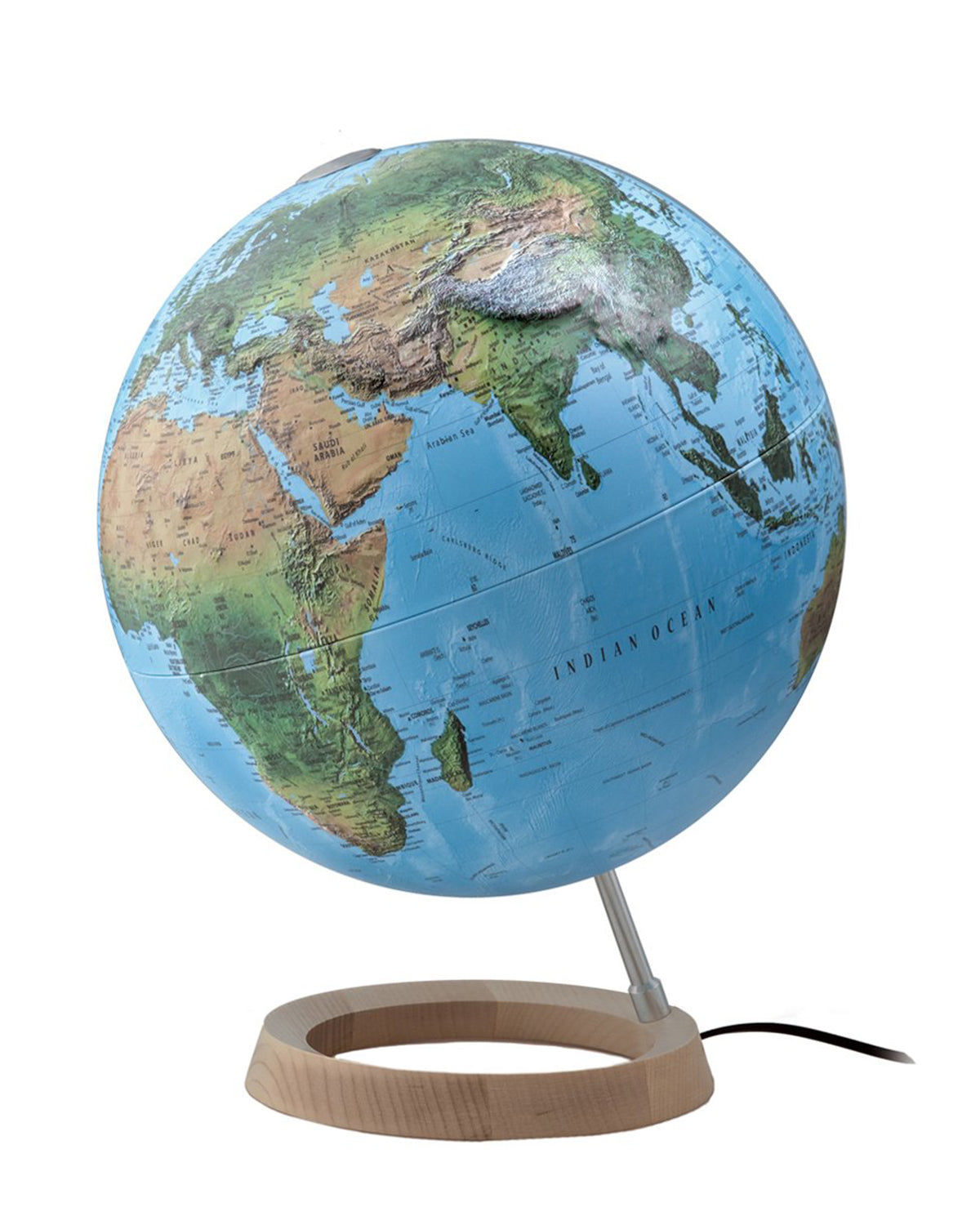 World globes with free shipping australia wide mapworld full circle fc4 relief atmosphere illuminated 30cm globe gumiabroncs Images