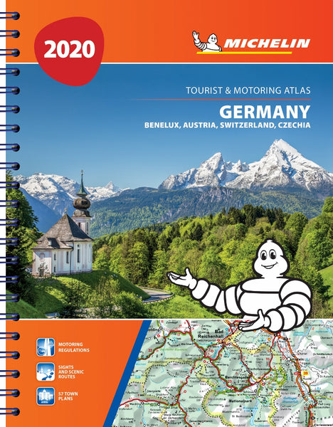 Germany, Benelux, Austria, Switzerland, Czech Republic Road Atlas Michelin